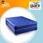 Colchon Y Sommier Gani Resortes Blue Spring 2 Pl. Oferta!