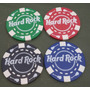 Lote De 4 Fichas De Pocker Hard Rock
