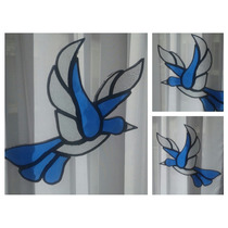 Pájaro Colgante En Vitraux Tiffany