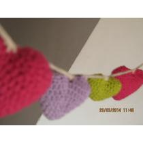 Corazones En Crochet! Guirnaldas, Souvenirs, Móviles