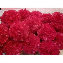 Pompones De Papel De Seda Flores Decoración Para Navidad!!!