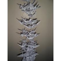 Las Grullas Origami Papel Autentico Ceremonia Cintas Unicos