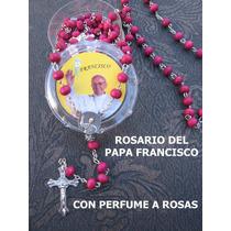 Papa Francisco, Rosarios Con Aroma A Rosas Set X 12 Unidades
