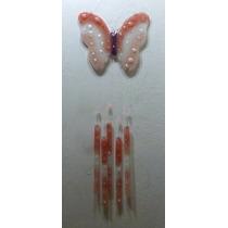 Llamador De Ángel De Vitrofusión -modelo Mariposa-