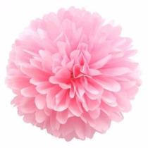 Flores Pompones Papel De Seda 25cm Cinta Bb