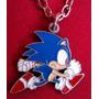 Sonic The Hedgehog Dije Collar Colgante Con Cadena