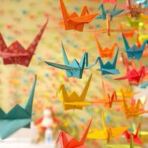 Grullas De Origami Decoracion Ambientacion Papel