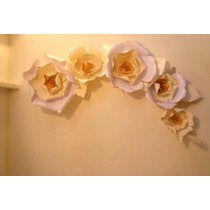 Decoracion Eventos. Flores De Papel. Casamientos. Vidrieras