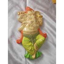 Ganesha En Yeso Para Colgar, Diseño De Autor