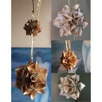 Hermosos Colgantes De Flores De Origami
