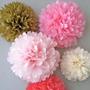 Pompones De Papel De Seda - Flores De 10 Cm