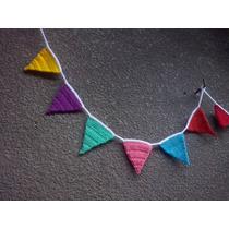 Banderines Tejidos Al Crochet