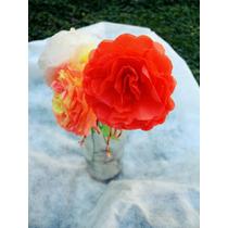 Flores De Papel De Seda Para Decoración, O Regalar