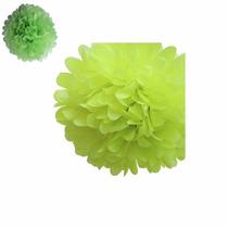 Flores Pompones Papel De Seda 35,5 Cm Cinta Bb