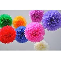 Pompones Globos Flores De Papel Seda