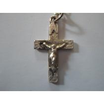 Cadena Fantasía Con Crucifijo