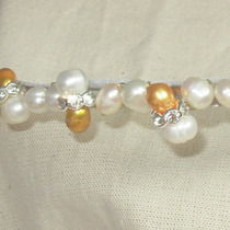 Tiara Con Perlas Cultivadas Divinos Dorados