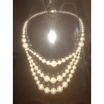 Lote De 10 Collares Surtidos De Perlas (a) - Oferta!!!!!
