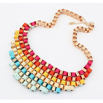 Collar De Colores Rainbow Importado! Arco Iris