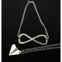 Collar Infinito Directioner Son 2!!! Avion Harry+pulsera!!!
