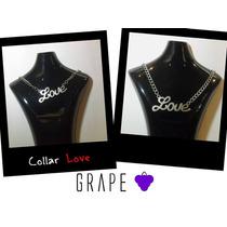 Collar Plateado, Modelo Love