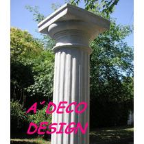 Columna Cemento Y Marmolina Toscana Estriada 2.05 Fabrica