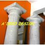 Columna Cemento Y Marmolina Toscana Lisa 2.65 Unica Fabrica