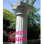 Columnas De Cemento Toscana Estriada 2.05 Dorica