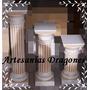Columnas De Cemento !!! Patinadas 45cm Hay Mas Medidas