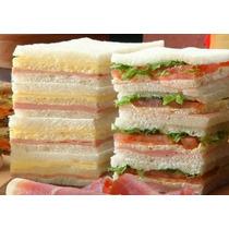 Sandwiches Triples De Miga X 50 Unidades -.envios !!!