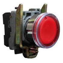 Pulsador Luminoso Schneider Xb4 Harmony 22 Mm Rojo Led 24vdc