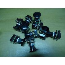 10 Pulsadores Tipo Hongo Color Negro Aea