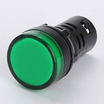 Luz Piloto, Ojo De Buey. 22mm Verde 12v Con Led