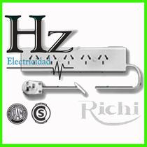 Zapatilla Richi 5 Enchufes 5mts Alargue Prolongacion Gtia Hz