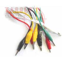 Cable Cocodrilo X 10 Unidades 30cm Varios Colores