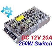Fuente Switching Metal 12v 20a 250w Apta Para Tiras De Leds
