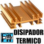 Disipador Termico Zd-8x7 Cm Aleteado Mediano Dorado Para To3