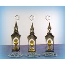 Portamensajes De Metal Capilla Con Caliz Dorado Por 10 Uds.