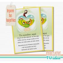 Comunión - Estampita Para Imprimir Con Jesús Y Corazón