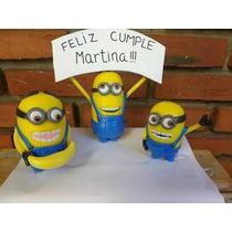 Adorno De Torta Minions Cumpleaños Infantiles