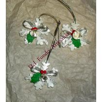 Aplique Miniatura Adorno Navidad Porcelana Fria X 10 Unidade
