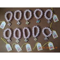 Comunion Pulseritas Dijes Cruces Porfis Con Perlas De Vidrio