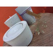 Fanales Cemento Concreto Macetas Souvenir Mesa
