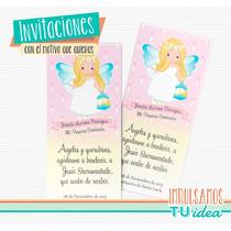 Comunión Nena - Estampita Para Imprimir Angelita