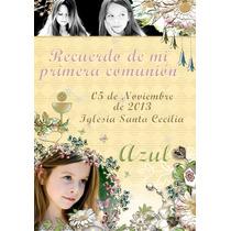 Souvenir De Comunion Estampitas Originales Con Foto X24
