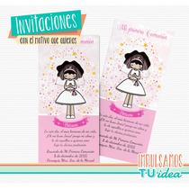Comunión Nena - Estampita Para Imprimir Nenita Con Velo