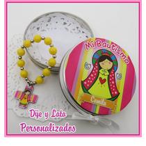 Latitas Con Denarios Personalizadas Souvenirs Bautismo X5