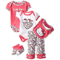 Set Beba Hello Kitty 5 Piezas Rn Y 6 Meses Importado Usa