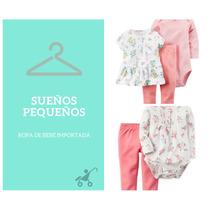 Set Bodys + Pantalón Carters Nena 6, 9, 12, 18 Y 24 Meses
