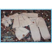 Conjunto Bebé Recién Nacido(4 Piezas) - Tejidos Artesanales